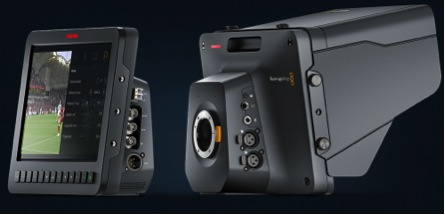 Описание: back and front views of the Blackmagic Studio Camera