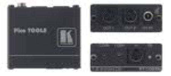 PT-102SN Усилитель-распределитель 1:2 сигналов s-Video c регулировкой уровня и АЧХ, 150 МГц полоса пропускания 150 МГц (–3 дБ, канал Y) регуляторы уровня в каналах Y и C малогабаритный корпус Kramer P