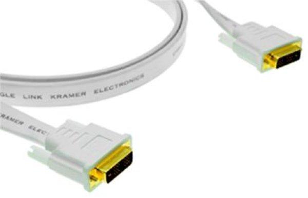C-DM DM FLAT(W)-15, Кабель DVI-D плоский (белый), 4,6 м Kramer - DVI