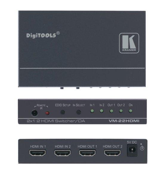 VM-22H (VM-22HDMI) Коммутатор 2x1 и усилитель-распределитель 1:2 сигнала HDMI - 1.12 HDMI