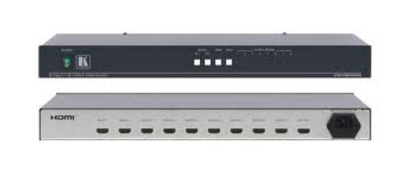 VM-28H (VM-28HDMI) Коммутатор 2x1 и усилитель-распределитель 1:8 сигнала HDMI VM-28H — усилитель-распределитель для сигналов HDMI. Он выполняет компенсацию потерь в кабеле и перетактирование сигналов,