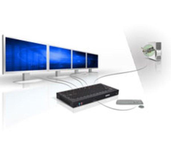 Extio PCIe x 1 fiber-optic adapter (Extio F2408 ) Matrox - KVM extenders