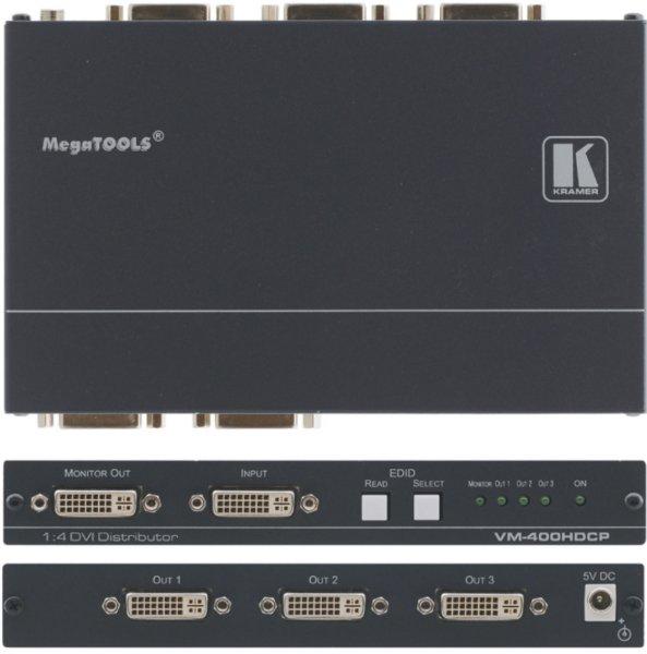 VM-400HDCP Усилитель-распределитель 1:4 сигнала DVI с поддержкой HDCP Kramer - 1.11 DVI
