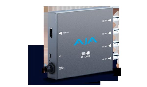 Hi5-4K Миниконвертер для мониторинга 4K сигнала Миниконвертер для мониторинга 4K сигнала с профессиональных камер с 4-мя SDI выходами на новых 4K мониторах с входом HDMI 1.4a