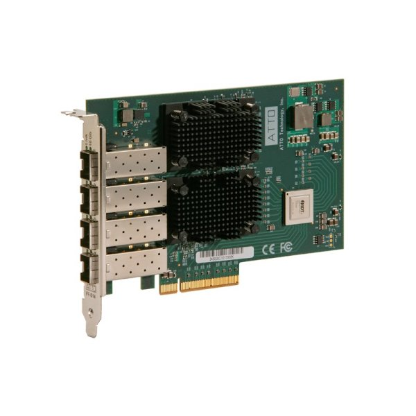 Atto FastFrame NS14 10GbE SFP+ Optical - 10GbE and 10GBASE-T Network Interface Cards-(NICs