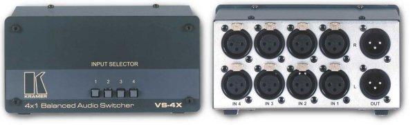 VS-4X, Механический коммутатор 4х1 балансных звуковых стереосигналов Kramer - 2.04 Аудио