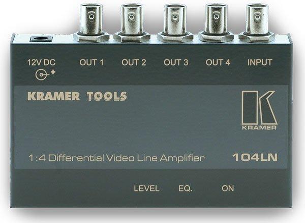 104LN, Усилитель-распределитель 1:4 композитного видео с дифференциальным входом Kramer - 1.02 Композит (CV)