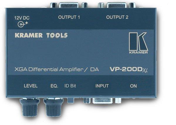 VP-200Dxl, Дифференциальный усилитель-распределитель 1:2 VGA с коррекцией Kramer - Коммутационное оборудование