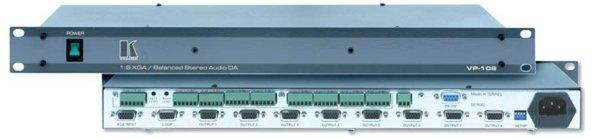 VP-108, Підсилювач-розподілювач VGA та аудіо 1:8 Высококачественный 8канальный распределитель, усилитель VGA, XGA и стерео звука - VP-108