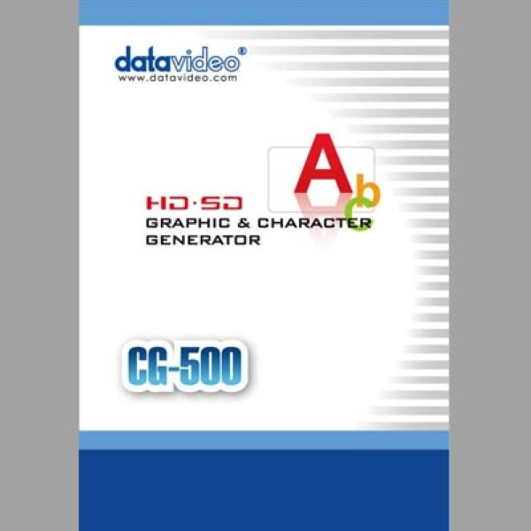 CG-500 SD HD Advanced TimeLine based CG for live   post production datavideo - Datavideo