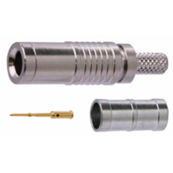DCP-C25HD - разъем mini-BNC Разъем DIN 1.0 2.3 с позолоченным сердечником для кабеля L-2.5CHD под обжим, 1855A. - DCP-C25HD