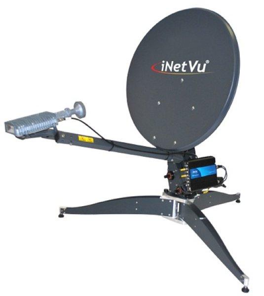 C-COM iNetVu Fly-75V 7710,7720 Моторизираванная спутниковая антенна 75 см. (устанавливается на треноге) Моторизираванная спутниковая антенна 75 см. в диаметре, Ka-диапазона. Контроллеры CTRL-7710 и CT
