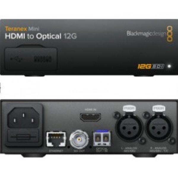 Teranex Mini - HDMI to Optical 12G Teranex Mini   Новая серия конверторов Teranex Mini – это семейство конверторов, рассчитанных на работу с сигналами 12G-SDI, дизайн которых достаточно отличается от