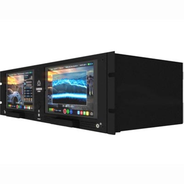 Atomos Shogun Studio видеорекордер студийный двухканальный Shogun studio – спаренная модель в ряду портативных камерных рекордеров, позволяющая записывать сигнал, поступающий с камеры, с разрешением