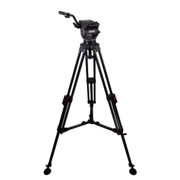 Cartoni Focus 12 Alu. Ml. - видеоштататив 1-звенный алюминиевый 12 кг. Плавная регулировка тормозных моментов и контрбаланса