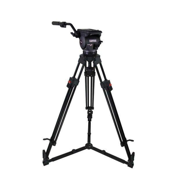 Cartoni FOCUS 12 Alu. Gr. - видеоштататив 1-звенный алюминиевый, нагрузка 12 кг. Плавная регулировка тормозных моментов и контрбаланса, код KF12-1UG