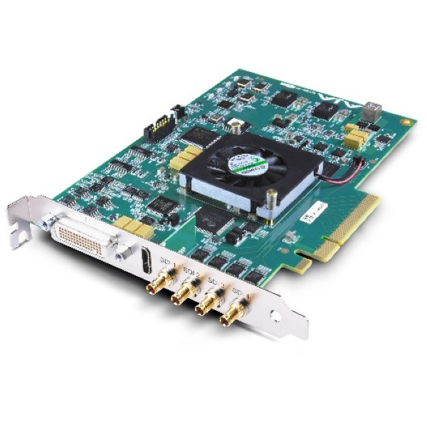 4K,2K,3G Dual Link HD SD I O, 10-bit PCIe Card, HDMI output with HFR support,