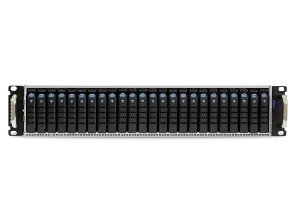 AIC SB201-LB is a 2U 24-bay all-flash array storage server solution, supports dual Intel® Xeon® Processors E5-2600 v3 and v4 product family.