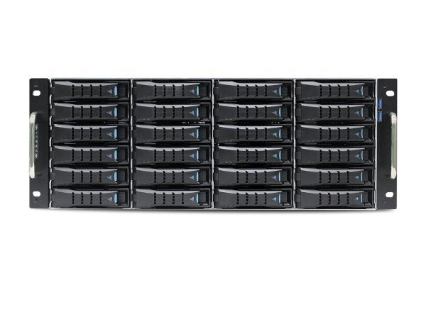 AIC SB401-LB is a 4U 24-Bay Storage Server Solution, supports dual Intel® Xeon® Processors E5-2600 v3 and v4 product family.