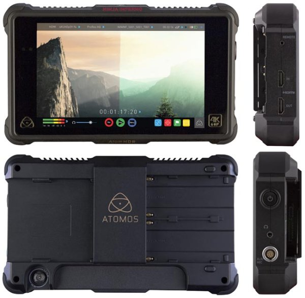 Atomos Ninja Inferno видеорекордер накамерный 4K, Монитор-рекордер HDMI с поддержкой 4К. Новое семейство Inferno с возможностью записи материала в разрешении 4K 50 60p  - ATOMNJAIN1