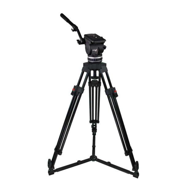 1-ступенчатый алюминиевый видеоштатив Focus 18 Alu. Gr. EFP код KF18-1HG для цифровых камер рассчитан на нагрузку от 6 до 18 кг, можно купить у ВТ Опта ООО