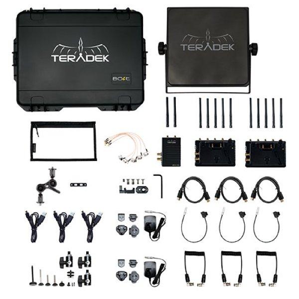 Teradek Bolt 1000 XT SDI HDMI Wireless TX 2RX Deluxe Kit - комплект Главной особенностью Bolt XT является его совместимость с любым Болтом того же диапазона, Sidekick II   LT   XT и 703 Bolt, что дает
