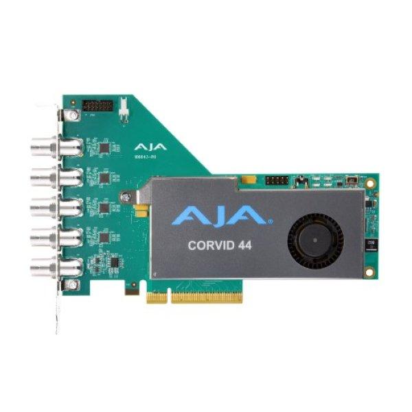 AJA Corvid 44 BNC - мульти-форматная карта ввода вывода PCIe с полноразмерными разъемами BNC. Поддерживает форматы 4K UltraHD 2K HD SD. 8-канальный PCI Интерфейс 2.0. Купить можно на нашем сейте