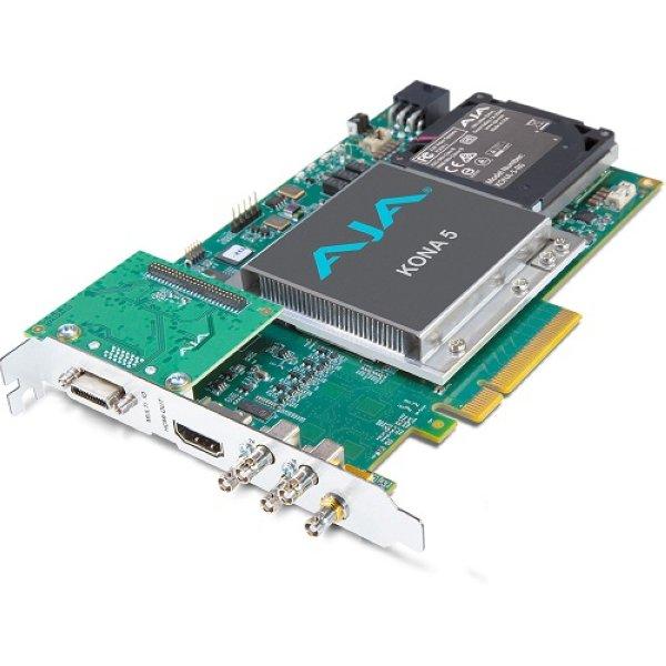 KONA-5 12G-SDI I   O, 10-битная карта PCIe, выход HDMI 2.0 с поддержкой HFR (ATX Power),