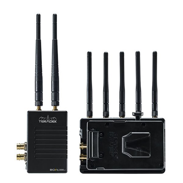 Teradek Bolt 3000 XT SDI HDMI Wireless TX RX Set - набор Совместим с болтами 3-го поколения 3000, Sidekick II и болтами 703. Оснащен 3D LUT, анализатор спектра 5 ГГц, ручной выбор канала. Имеет дво -