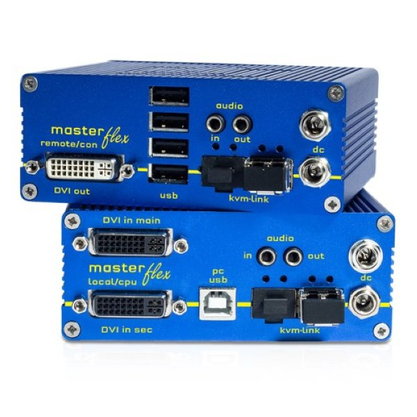 KVM-TEC MV1-F SET Masterflex Single Redundant Fiber SET - KVM-TEC