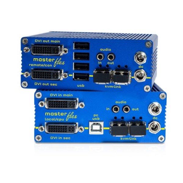 KVM-TEC MV2-F SET Masterflex Dual Fiber SET - KVM-TEC