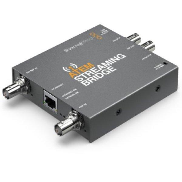 ATEM Streaming Вridge - это видеопреобразователь, который позволяет получать поток H.264 из любого ATEM Mini Pro и преобразовывать его обратно в HDMI либо SDI. Купить на сайте ОПТА.  -