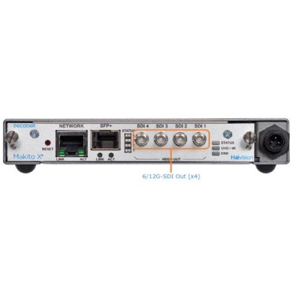Haivision Makito X4 SDI Decoder - универсальный видеодекодер HEVC  H264 - Haivision