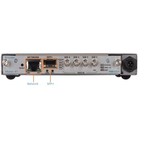 Haivision Makito X4 SDI Encoder Appliance - видеокодер HEVC и H264 - Haivision