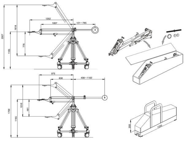 Libec JB40 KIT - операторский кран в комплекте - Libec