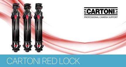 Новая серия штативов Cartoni Red Lock Systems